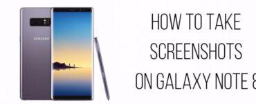 cómo tomar capturas de pantalla en Galaxy Note 8