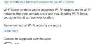 Cómo deshabilitar el sentido de Wi-Fi en Windows 10