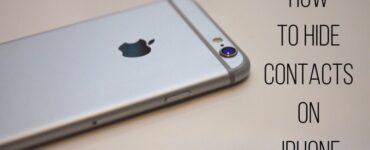 cómo ocultar contactos en iPhone