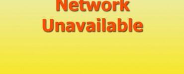 Reparar red de información no disponible y servicio de error no disponible (1000)