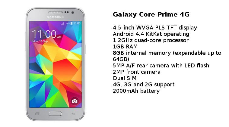 Samsung Galaxy Core Prime 4G: una combinación pura de especificaciones y calidad con soporte LTE