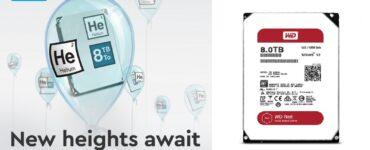 Western Digital anuncia unidades de 8 TB, dedicadas al público en general