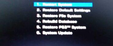 Cómo reparar el bucle de modo seguro de PS4