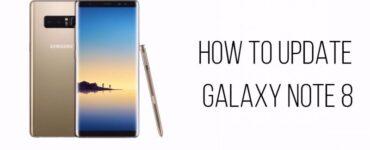 Cómo actualizar Galaxy Note 8