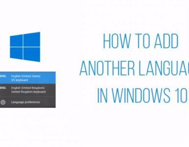 cómo agregar otro idioma en Windows 10