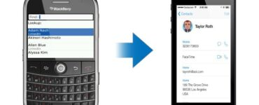 Cómo transferir contactos y calendario desde Blackberry OS 7.1 a iPhone 1