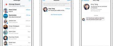 Facebook está lanzando solicitudes de mensajes para Messenger