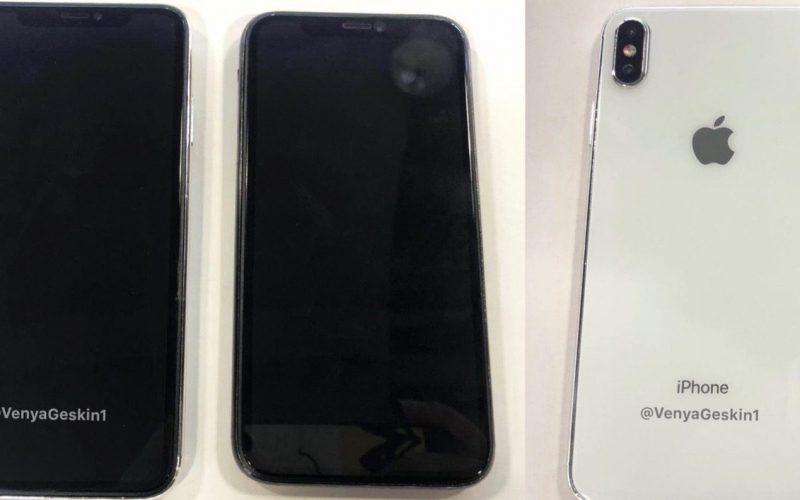 Unidades ficticias del iPhone X Plus y el iPhone económico